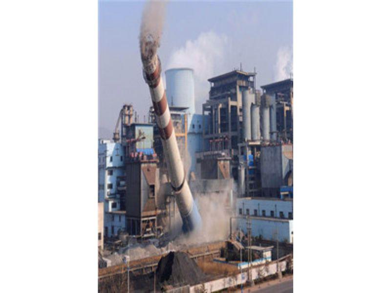 惠州人工拆除烟囱