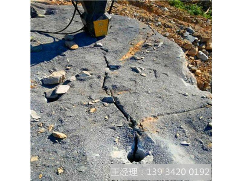 石头很硬分不开怎么办花岗岩石灰岩开采劈裂机