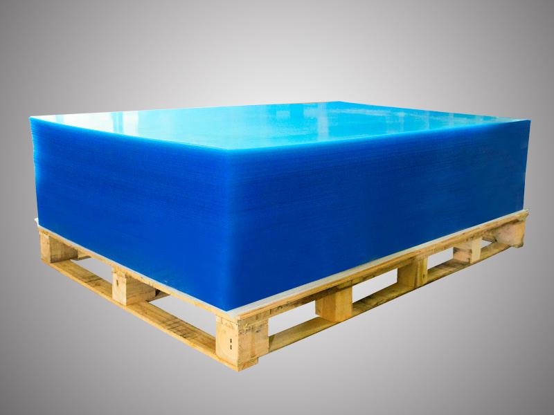 藍膜透明亞克力板-亞克力板廠