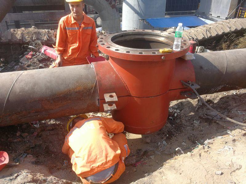 深州市焦炉煤气管道带压堵漏公司全员实动