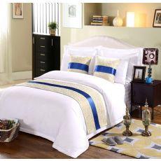 客房布草批发直销酒店床品定制宾馆床尾巾床旗抱枕