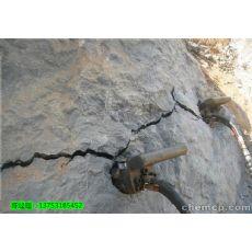 陕西甘肃120岩石液压分裂棒玉石矿劈石机